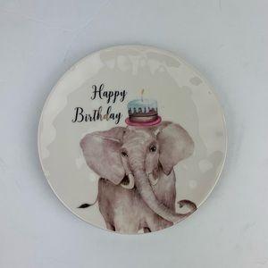 Happy birthday Ceramic Cake Plate Elephant